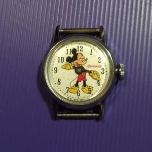 Vintage Ingersoll Mickey Mouse watch chrome plated